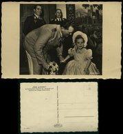 P0196 - DR Röhr Postkarte , Hermann Göring Mit Tochter Edda Bei Adolf Hitler Zum Geburtstag: Ungebraucht. - Briefe U. Dokumente