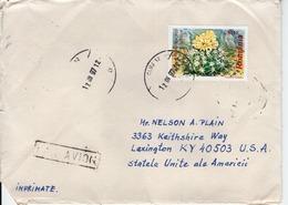 ROMANIA  - ROMANIA TO USA  FDC6849 - Covers & Documents