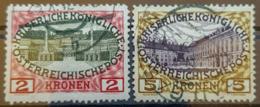 AUSTRIA 1908 - Canceled - ANK 154, 155 - 2K 5K - Usati