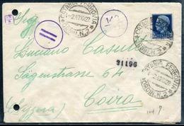 ITALIE - N° 237 / LETTRE DE CATANIA LE 1/2/1942 POUR LA SUISSE AVEC CENSURE - TB - Storia Postale