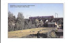 Ecaussinnes (Malon-fontaine)  Train Micheline Sur Le Pont Des 9 Arcades ( En Couleurs ) - Ecaussinnes