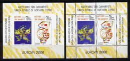 Türkisch-Zypern / Turkish Republic Of Northern Cyprus / Chypre Turc 2006 2 Blöcke EUROPA ** - 2006