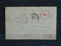 Z27 - Croix Rouge 1915 - Sociéte De Secours Aux Blessés - Infirmerie De Gare - Sur CPA Limoges - Marcophilie (Lettres)