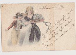 Jolie Carte Fantaisie Dessinée   / Douceur Du Soir / Chapeaux - Cartes Postales