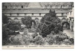 Cpa 29 La Bretagne - Quimperlé - Ecole Supérieure De Jeunes Filles - Le Jardin Du Cloître - Quimperlé