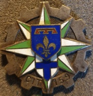 Insigne Militaire 122 , 159° CIT , Centre Instruction Du Train , Drago1350 - Army