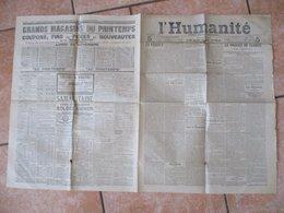 L'HUMANITE DU SAMEDI 26 NOVEMBRE 1904 DIRECTEUR POLITIQUE JEAN JAURES - Journaux - Quotidiens