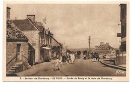 50 Environs De Cherbourg - Les Pieux (Manche) - Entrée Du Bourg Et La Route De Cherbourg - Edition Alex - France
