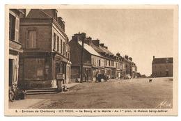 50 Environs De Cherbourg - Les Pieux (Manche) Le Bourg Et La Mairie Au 1er Plan La Maison Leroy Jolivet - Edition Alex - France