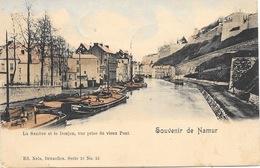 Souvenir De Namur NA137: La Sambre Et Le Donjon, Vue Prise Du Vieux Pont 1899 - Namur