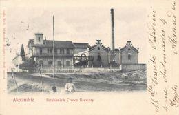 Egypt - ALEXANDRIA - Ibrahimieh Crown Brewery - Publ. Carlo Mieli. - Alexandrie