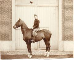 1 Photo D Un Cavalier Fin 19ème,format 20/16 - Krieg, Militär