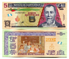 GUATEMALA - 5 QUETZALES - 2014 - UNC - Guatemala