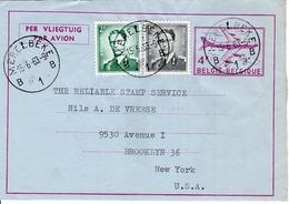 BELGIUM  - BELGIUM TO USA  FDC6889 - Belgium