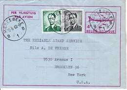 BELGIUM  - BELGIUM TO USA  FDC6889 - Belgio