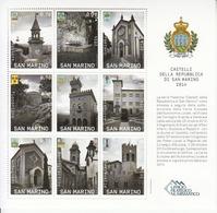 2014 San Marino Municipalities Architecture Coats Of Arms Miniature Sheet Of 9 MNH @ Well BELOW Face Value - Ongebruikt