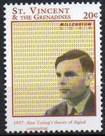 ST VINCENT - 1v MNH** - Alan Turing Computing Computer Computing Informática Informatique IT Computadora Digital Theory - Informatique
