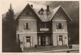 FO-00168- FOTO ORIGINALE- CARBONIN(SCHLUDERBACH)MISURINA- PROBABILE STAZIONE FERROVIARIA - Luoghi