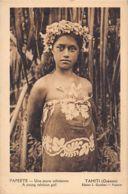 Tahiti - Papeete - Une Jeune Tahitienne - Ed. L. Gauthier. - Polynésie Française