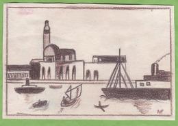 Dessin Le Port D'Alger Signe NG - Autres Collections