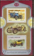 Saint Thomas 1983 Car Voitures Delage 1910 Mercer 1913 Renault 1912 MNH - Coches