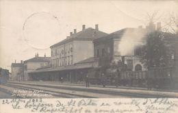 Slovenia - PIVKA St. Peter Na Krajnskern - The Railway Station - REAL PHOTO. - Slovenia