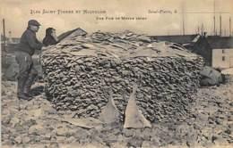 Saint-Pierre Et Miquelon - Une Pile De Morue Sèche - Ed. A.-M. Bréhier 21. - Saint-Pierre-et-Miquelon
