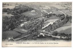 Cpa 04 Céreste (Basses-Alpes) - La Vallée Du Coulon, Vue Du Coin Des Epinettes (train) - Cliché H. Délestic - Autres Communes