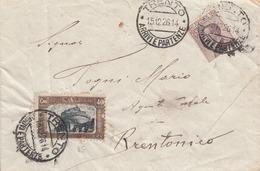 """186 - REGNO - Busta Senza Testo Del 15 Dicembre 1926 Da Trento A Brentonico Con Cent. 20 + Cent. 40 """"Pro Previdenza"""" - Marcofilía"""