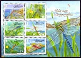 Alderney MiNr. Bl. 25 **, Einheimische Libellen - Alderney