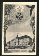 AK Singen A. Hohentwiel, Vereinslazarett Des Roten Kreuzes, Eisernes Kreuz Mit Reichsadler - Singen A. Hohentwiel