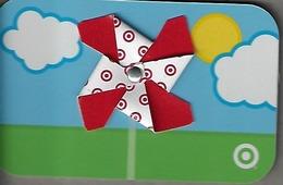 Target Gift Card - Folded Plastic Pinwheel - Gift Cards