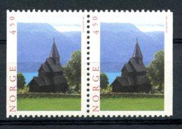 Norway, 1996, Tourism, Church, MNH Pair, Michel 1209Dl-1209Dr - Norvège