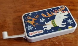 Target Gift Card - Fold Out Crank Arm For Built In Generator To Power Flash Light With On/off Switch - Gift Cards