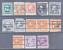 U.S. 498 +    Perf. 11    (o)    CONN.   1917-19  Issue - Precancels