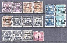 U.S. 555 +    Perf. 11   (o)   CONN.   1922-25  Issue - Precancels