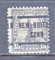 U.S. 566     Perf. 11  *  CONN.   1922-25  Issue - Precancels