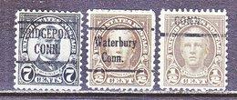 U.S. 639, 653    Perf. 11 X 10 1/2  (o)  CONN.   1927  Issue - Precancels