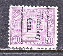U.S. 701   Perf. 10 1/2 X 11  (o)  CONN.   1931  Issue - Precancels