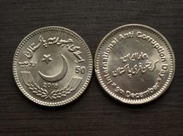 "PAKISTAN 50 RUPEE 2018 COMM. COIN ""International Anti-corruption Day"" ASIA - Pakistan"