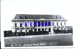 119028 ARGENTINA MAR DEL SUD BUENOS AIRES BOULEVARD ATLANTIC HOTEL PHOTO NO POSTAL POSTCARD - Photographie