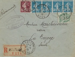 1926- Enveloppe RECC.affr. à  1,40 F   De BOUILLY / AUBE - Postmark Collection (Covers)