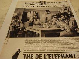 ANCIENNE PUBLICITE RUGBY ET LE THE DE L ELEPHANT  1964 - Affiches