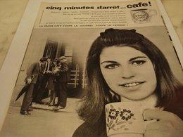 ANCIENNE PUBLICITE 5 MINUTES D ARRET CAFE 1964 - Affiches