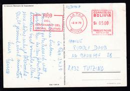 CAK (Kalvarienberg) Mit Freistempel Ab La Paz 2.IV.79 Nach Tutzing - Bolivien