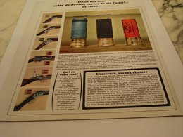 ANCIENNE PUBLICITE MUNITION GEVELOT  1966 - Publicité