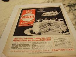 ANCIENNE  PUBLICITE CUISINE LEGERE REGILAIT 1964 - Affiches
