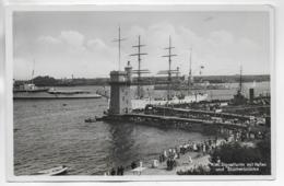 AK 0311  Kiel - Signalturm Mit Hafen Und Blücherbrücke Um 1930-40 - Kiel