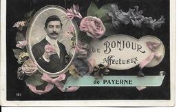 """Suisse - Canton De Vaud - Payerne - """"Un Bonjour Affectueux"""" - VD Vaud"""