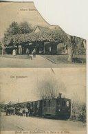Gruß Aus Süderdeich = Balje / Niederelbe V. 1907  Albers Gasthaus Und Die Kreisbahn (57203) - Stade
